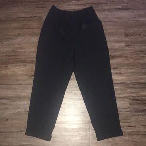 Zara navy pin striped pants with elastic waist